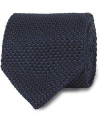 Tm Lewin - Navy Knitted Silk Tie - Lyst