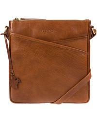 Conkca London - Dark Tan 'avril' Hancrafted Leather Crossbody Handbag - Lyst