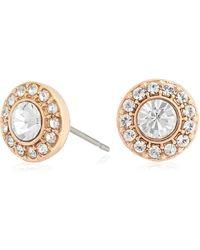 Pilgrim - Rose Crystal Diamante Earrings - Lyst