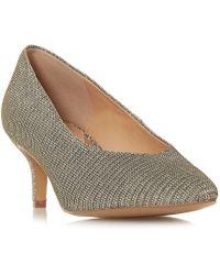 6695c4a4bfa Dune - Gold  amandi  Kitten Heel Court Shoes - Lyst