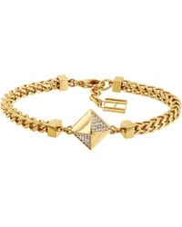 Tommy Hilfiger - Gold Plated Box Chain Bracelet - Lyst