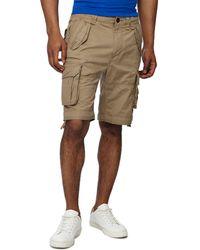 Racing Green - Light Tan Regular Fit Cargo Shorts - Lyst