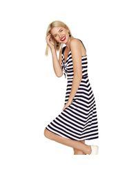 1ee032b4db Oasis Rainbow Stripe Tube Dress in Blue - Lyst