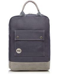 Mi-Pac - Charcoal Canvas Backpack - Lyst