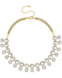 J By Jasper Conran - Designer Gold Crystal Necklace - Lyst