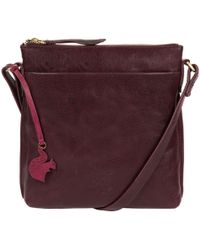 Conkca London - Plum 'nikita' Leather Compact Cross-body Bag - Lyst
