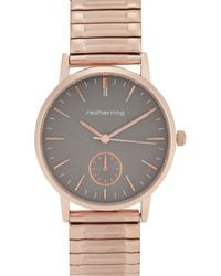 Red Herring - Rose Gold Plated Analogue Watch - Lyst