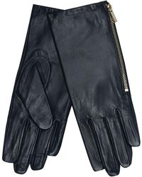 J By Jasper Conran - Navy Leather Side Zip Gloves - Lyst