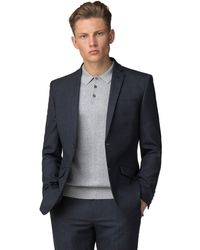Ben Sherman - Navy Waffle Weave Tailored Fit Jacket - Lyst