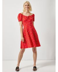 fd2446d07f10d Dorothy Perkins - Maternity Red Floral Print Skater Dress - Lyst