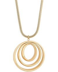 Red Herring - Gold Multi Circle Long Necklace - Lyst