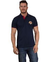 Raging Bull - Navy Pique Polo Shirt - Lyst