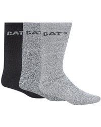 Caterpillar - Pack Of Three Grey Boot Socks - Lyst