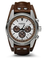 Fossil - Gents Tan Chronograph Leather Strap Watch Ch2565 - Lyst