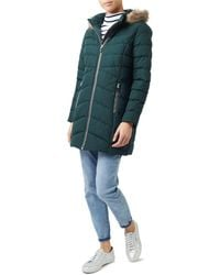 Dash - Bottle Green Long Sleeves Wadded Coat - Lyst