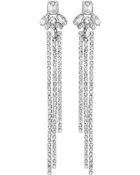 Lipsy - Diamante Chain Drop Earrings - Lyst
