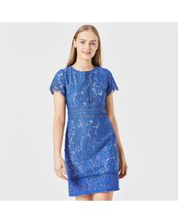 Angeleye - Royal Lace Bodycon Short Sleeved Dress - Lyst