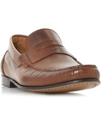 Bertie - Primus Leather Penny Loafers - Lyst