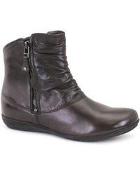 Josef Seibel - Dark Brown 'faye 05' Ruche Womens Casual Boots - Lyst