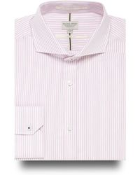 Racing Green - Big And Tall Pink Striped Tailored Fit Shirt - Lyst