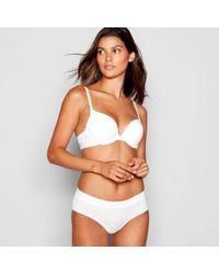 550f3c578fc DKNY - White Padded Underwired Cotton Custom Lift Bra - Lyst