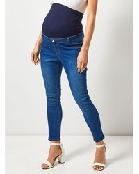 Skinny John Overbump In Seraphine Penny Jeans Lewis Maternity Blue N80mnw