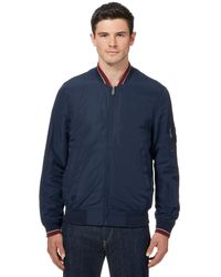 Ben Sherman - Big And Tall Navy Tipped Bomber Jacket - Lyst