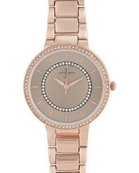 J By Jasper Conran - Rose Gold Plated Stone Embellished Analogue Watch - Lyst