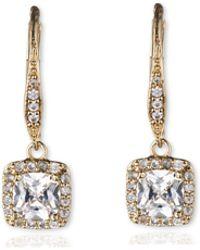 Anne Klein - Gold Crystal Chandelier Drop Earrings - Lyst