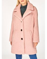 Dorothy Perkins - Blush Teddy Coat - Lyst