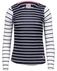 Raging Bull - Navy And White Long Sleeves Striped Top - Lyst