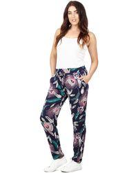 Izabel London - Navy Long Printed Trousers - Lyst