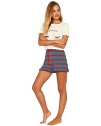 Oasis - Multi Blue Stripe Rainbow Shorts - Lyst