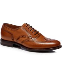 Loake - Tan Leather Brogues - Lyst