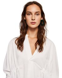 Mango - White 'frankie' V-neck Shirt - Lyst