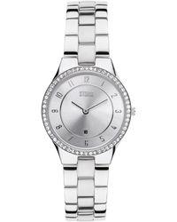Storm - Ladies Silver Round Dial Swarovski Crystal Watch Slim X Crystal - Lyst