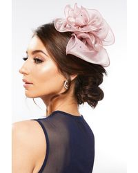 Quiz - Mauve Floral Jewel Headband Fascinator - Lyst
