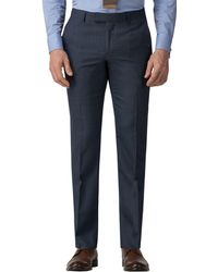 Ben Sherman - Blue Jaspe Check Tailored Fit Trousers - Lyst