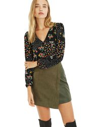 Oasis - Ditsy Spot Button Blouse - Lyst