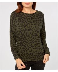 faefcf470d885a Dorothy Perkins Quiz Leopard Print Light Knit Top in Pink - Lyst