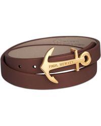 PAUL HEWITT - Men's Brown 'northbound' Bracelet Ph-wb-g-1m - Lyst