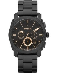 Fossil - Black Chronograph Stainless Steel Watch Fs4682 - Lyst