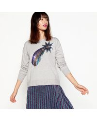 House of Holland - Grey Sequin Shooting Star Jumper - Lyst