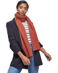 Miss Selfridge - Rust Ribbed Scarf - Lyst