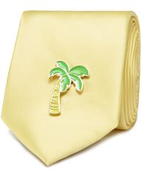 Red Herring - Yellow Palm Tree Pin Tie - Lyst