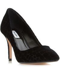 Dune - Black 'aisha' High Heeled Court Shoes - Lyst