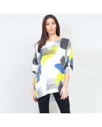 Izabel London - Multicoloured Printed Rolled Sleeves Blouse Top - Lyst