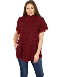 Tenki - Maroon Cap Sleeves Knitted Jumper - Lyst