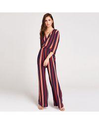 9abd6b1b2ab Girls On Film Multicoloured Sybill Check Culotte Jumpsuit - Lyst