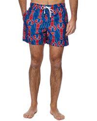 Tommy Hilfiger - Blue Lobster Print Swim Shorts - Lyst